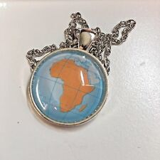 AFRICA CONTINENT SOUTH AFRICA AFRICAN  Map necklace pendant ATLAS