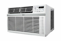 LW8016ER-LG 8,000 BTU 115V Window-Mounted AIR Conditioner with Remote Cont