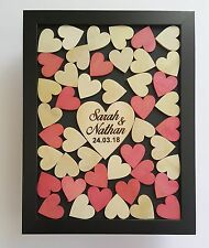 Personalised 45 hearts Shabby Chic drop box guestbook wedding engagement