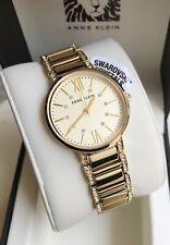 Anne Klein Watch * 3200CHGB Swarovski Crystals Gold Steel for Women COD PayPal