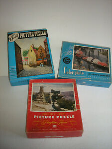 Vintage Jigsaw Puzzles (3) Guild, Playtime House, Color-photo
