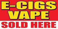 3'x6' E-Gigs Vape Sold Here Vinyl Banner Sign - ecig, smoke, shop, ejuice