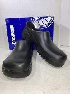 Birkenstock A630 Men's Size 10 Black Professional Slip On Clog Shoes X7-701
