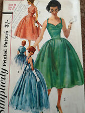 Original Vintage Simplicity Pattern 1848 Evening Dress