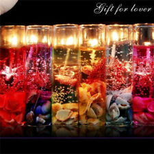 Glass Bottles Ocean Theme Smokeless Jelly Wax Wedding Gel Candles Latest Hot