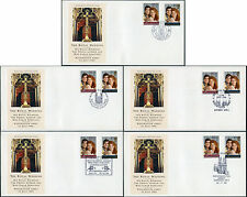 1986 Royal Wedding Andrew + Sarah FDC... Westminster Abbey 5 diversi programmi speciali