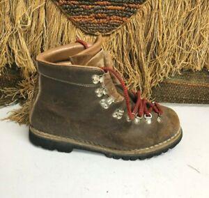 Vintage Vasque Norwegian Welt 7505 Leather Mountaineering Hiking Boots-Mens 10 M