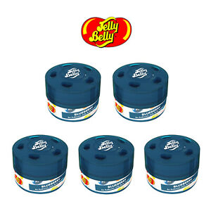5x Jelly Belly Bean Sweet Gel Can Car Air Freshener Freshner - Blueberry 15514