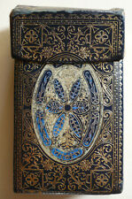 ANTIQUE PERSIAN MIDDLE EAST ? Cigarette Box Card Case VERY ORNATE FOLD OUT LID