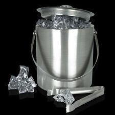 Eiswürfelbehälter Eiskühler Eiskübel Eisbox Eiseimer Eiszange Eis Box Edelstahl