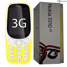 BNIB NOKIA 3310 3G (2017) YELLOW 64MB SINGLE-SIM FACTORY UNLOCKED 3G SIMFREE NEW