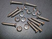 """10 Buick Chevy Pontiac Cadillac #8 x 7/8"""" w/#6 stainless screws washers GM"""