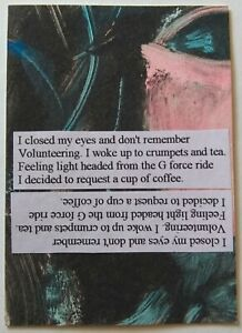 """""""Looking At Both Sides"""" Original Collage Pop Surrealism Mixed Media Art ACEO"""