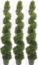 "3 Cedar 6' 4"" Artificial Cypress Spiral Topiary Tree UV Outdoor Juniper 5 7 Pine"