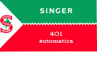 Manuale in ITALIANO SINGER 401 VERSIONE ORIGINALE