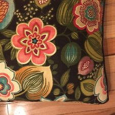 American Mills Usa Large Square Floral Accent Pillow Multi Color 24 X 24