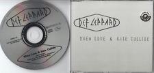 DEF LEPPARD PROMO CD WHEN LOVE & HATE COLLIDE