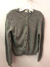 Gap M Lambswool Gray Cardigan Sweater Angora Very Soft Euc Lkn