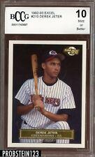 1992 Excel #210 Derek Jeter RC Rookie BCCG 10 HOF Yankees