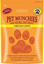 Pet Munchies Chicken Chips Dog Treats - 100g x 8 Pack