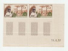 Madagascar coin daté 1952 Yvert PA 73 Baobabs Umbrella