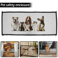 180*75cm Pet Dog Gate Retractable Safety Guard Mesh Baby Enclosure Stair Gate US