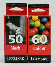 Lexmark 50 + 60 Twinpack New Genuine Z12, Z22, Z32 Black & Colour Ink Cartridges