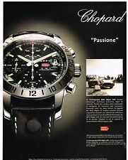 Publicité Advertising 2005 Montre Chopard modèle Mille Miglia GMT