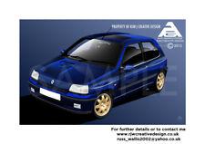 Renault Clio Williams A3 Poster Illustration