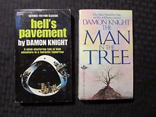 1971/84 DAMON KNIGHT Paperback LOT of 2 Man In The Tree / Hell's Pavement FN 6.0