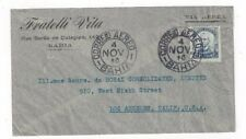 1940 Bahia Brazil Commercial Airmail to Los Angeles CA, 5000R Single Franking