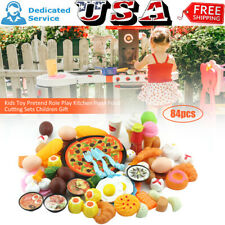 84pcs Kids Toy Pretend Role Play Kitchen Pizza Food Cutting Sets Children Gift