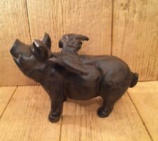 Large Reproduction Cast Iron Flying Pig Statue 11