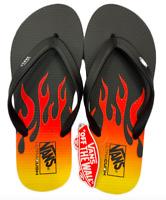Vans Men's Makena Synthetic Flip Flop Sandals, Black Flame
