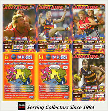 2005 AFL Teamcoach Trading Card How To Play Team set Adelaide (9)