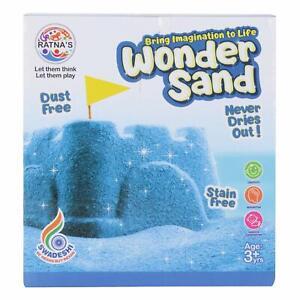 Wonder Sand (One Big Mould Inside) 500gm -Blue For Kids Free Shipping Worldwide
