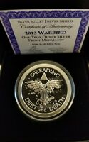 Warbird Proof 1 oz 999 Silver shield American Silver Eagle drone SBSS Debt Death