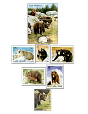 AFG96022 Bears block and 5 stamps and stamp from the block