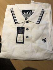 Mens Goi Goi Polo Shirt. Brand New! White, Size Medium.