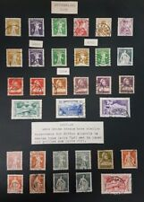 1909-1914 Switzerland Stamps Vintage Collector's Page, Used! Nice!