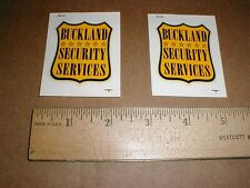 Buckland Security Services vintage Made in USA original badge water slide decals