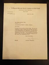 The Marine Midland Trust Company of New York Letterhead Letter 1931