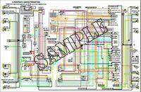 11x17 Color Wiring Diagram For Toyota Fj40 Land Cruiser 1978 1979 Ebay