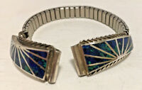 Sterling Silver  & Azurite Watch Band