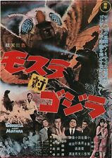 Mothra vs. Godzilla 1964 Re-Release Japanese Chirashi Movie Flyer B5
