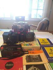 Junk Drawer 4 Vintage cameras+accessories 2 Ansco 1 Vivitar working Pentax parts