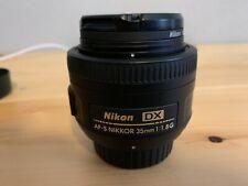Nikon Nikkor AF-S DX 35 mm F/1.8G Lens (JAA132DA) - Excellent Condition