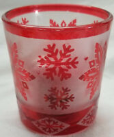 Yankee Candle Votive Holder RED STAR SNOWFLAKE & 2 SURPRISE Votives Christmas