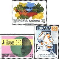 Spanien 2863,2865,2866 (kompl.Ausg.) postfrisch 1988 Sondermarken