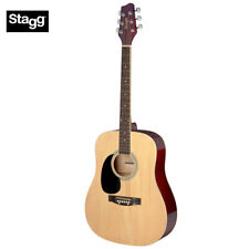 Stagg SA20D 3/4 Size Dreadnought Beginner Acoustic Guitar - Natural LEFT HAND